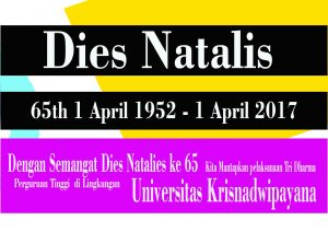 Dies Natalis ke 65 Universitas Krisnadwipayana